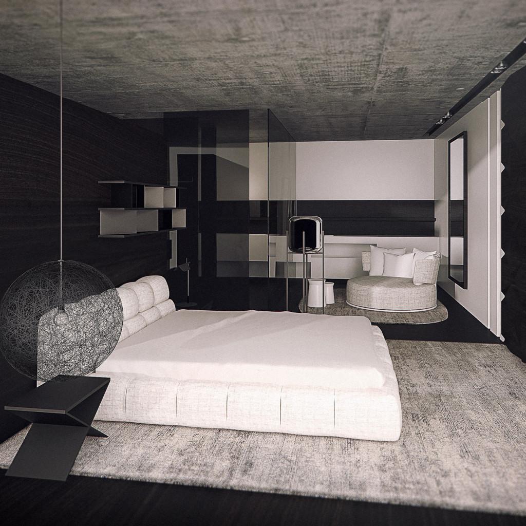 Hotel Projekt Schlaf- und Wohn - Bereich