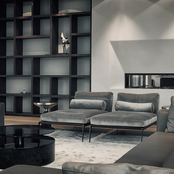 Villa Eins Wohnzimmer